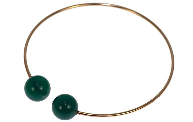 5 octobre bracelet vert emeraude